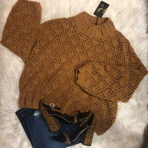 POL MUSTARD COLORED SWEATER NWT
